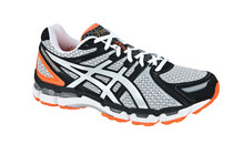 Asics Men's Gel Kayano 19 black/white/neon orange
